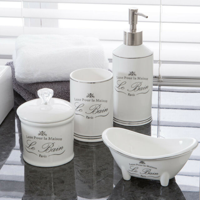 Sensational New Habitat Le Bain White Bathroom Accessories Home Interior And Landscaping Ologienasavecom