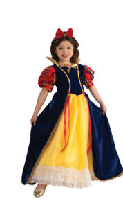 Rubies-Enchanted-Princess-Snow-White-Deluxe-Yellow-Polyester-Gown-Costume-881373