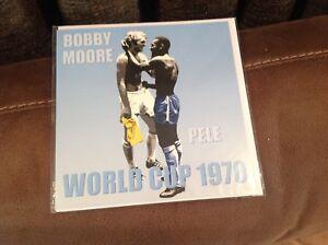 bobby moore pele world cup 1970 blank card photo football england brazil