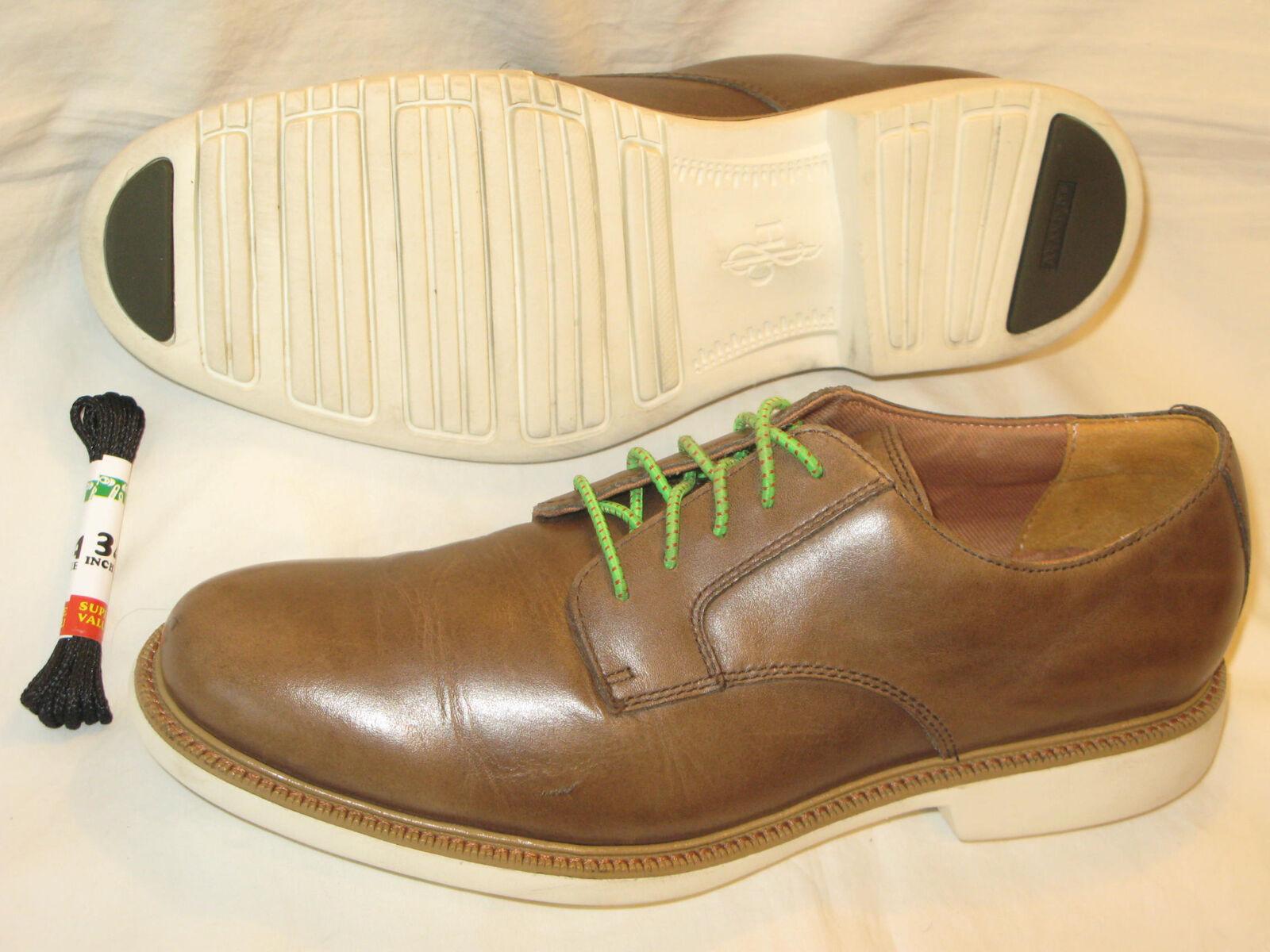 Cole Haan Mens Great Jones Plain Leather Oxford USA Sz 9 M Brown