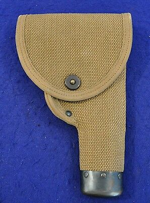 RARE! NICE ID'd WWI CANADIAN MILLS WOVEN HOLSTER FOR 1911 COLT & WEBLEY PISTOL