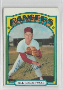Bill Gogolewski 1972 Topps signed auto autographed card Rangers