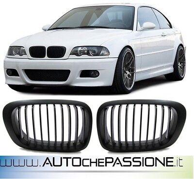 Coppia Griglie Nere per BMW E46 dal 1999>2003 per versioni Coupè/Cabrio black