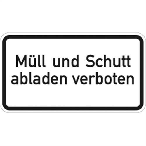 RA1 33x60cm Alu VZ2502 Müll und Schutt abladen verboten