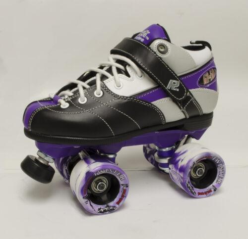 Sure-Grip Rock Expression Indoor Quad Skate Package in PURPLE MEN/'S SIZE 4
