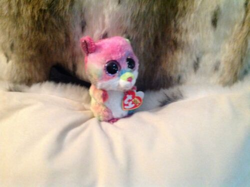 RODNEY THE MULTI COLORED BEANIE BOO HAMPSTER MWMT 6/""