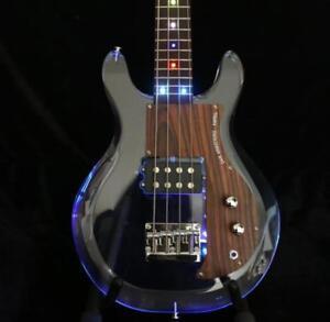 NEW-Flash-LED-Light-Electric-Bass-Guitar-Dan-Bass-Guitar-Acrylic-Body-Rosewood
