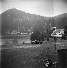 GÉRARDMER c. 1950 - Auto Le Lac Vosges - Négatif 6 x 6 - N6 GE76
