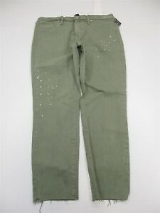 new-MOSSIMO-Jegging-Women-039-s-Size-14-Power-Stretch-High-Rise-Green-Cropped