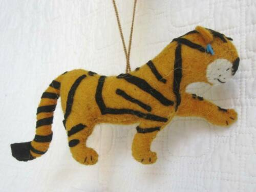 Tiger Ornament Eco-Friendly Fair Trade Fabric Sculpture Hand Made Wool