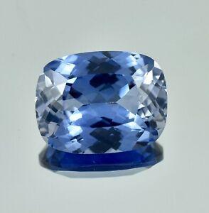 Natural Flawless Kashmir Pastel Blue Sapphire Loose Cushion Gemstone Cut 11.30ct