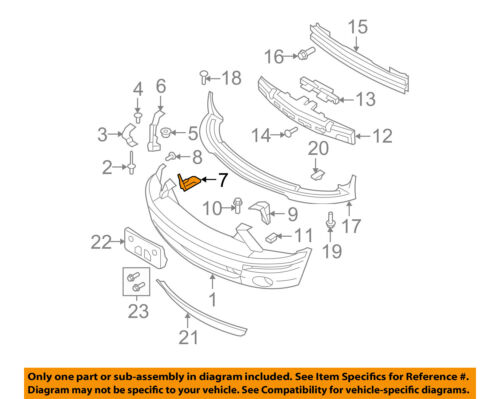 FORD OEM 07-09 Mustang Front Bumper-Support Bracket Right 7R3Z17752A