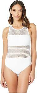 Bleu-Rod-Beattie-Women-039-s-189176-High-Neck-One-Piece-Swimsuit-White-Size-12