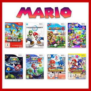 Nintendo Wii Mario Juegos Selección Bros Kart Party 8 Sónico Galaxy 1 2 Deporte