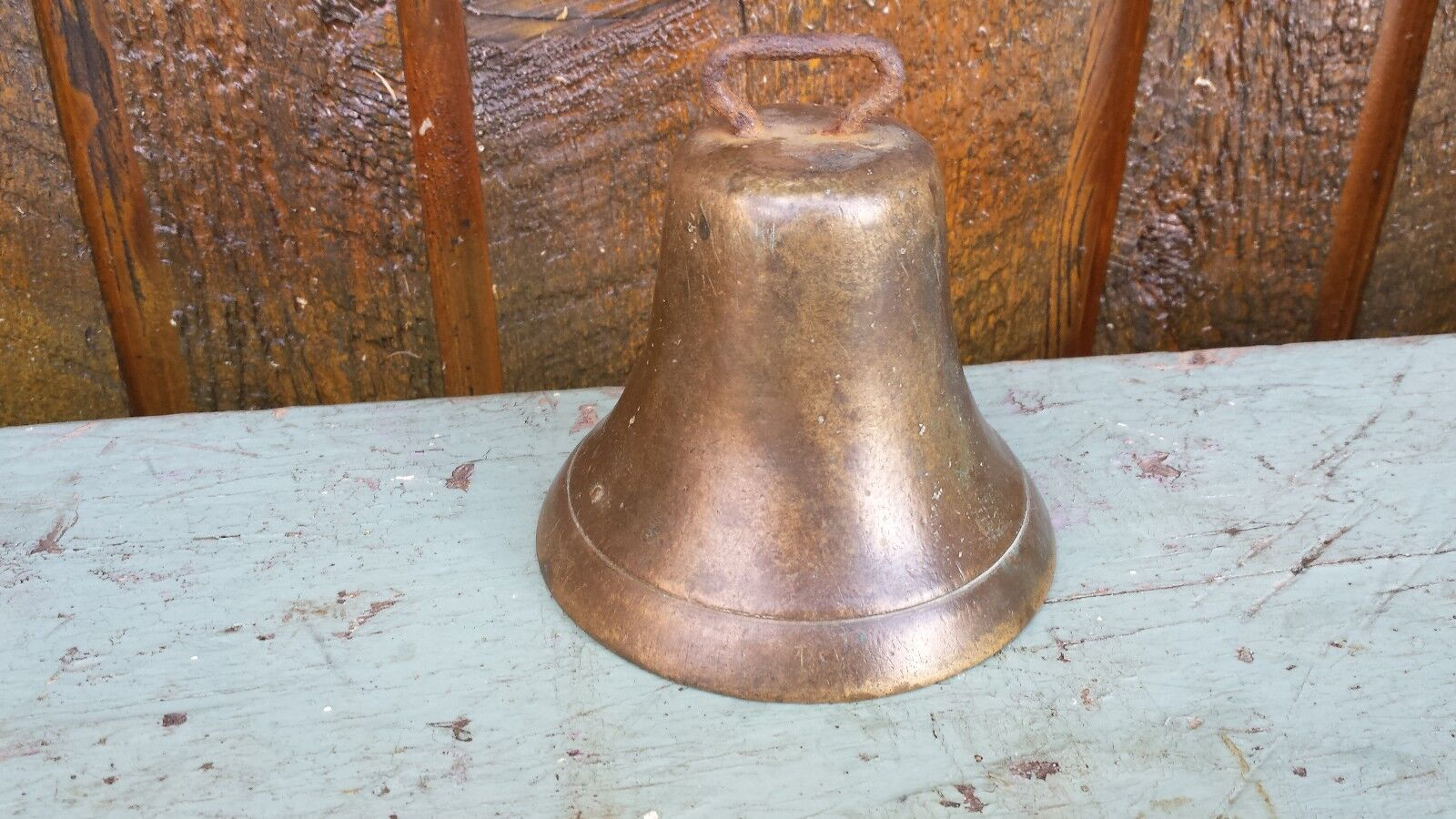 Vintage Brass Horse Bell IN VERY GOOD CONDITION with 4  Diameter Opening