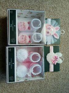 Bniblaura Ashley Baby Head Wrap Bande Et Chaussettes Set X 2. 0-12 Mois, Mignon-afficher Le Titre D'origine