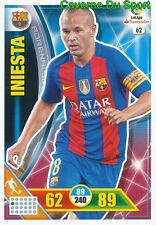 062 ANDRES INIESTA ESPANA FC.BARCELONA CARD ADRENALYN LIGA 2017 PANINI
