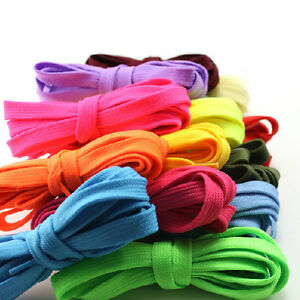 138cm-Sneakers-Flat-Athletic-Shoelaces-Sport-Bootlaces-Extra-Long-Shoe-Lace