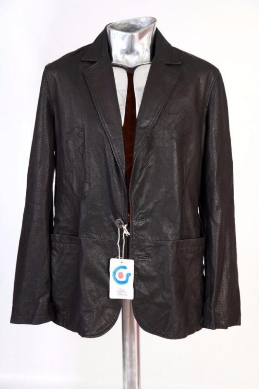 Aggressiv Falsche London Perforiert Lederjacke Schwarz M Eu48 Blazer Jacke