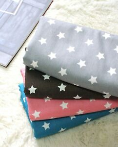 Mini-stars-100-Cotton-20-039-s-Oxford-Fabric-BY-THE-YARD-Scandinavian-star-JB88