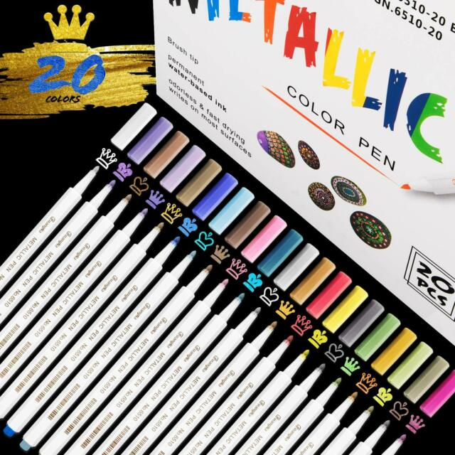 15 Farben 3mm Metallic Acrylstifte Marker Set Für Graffiti Wasserfest Permanent