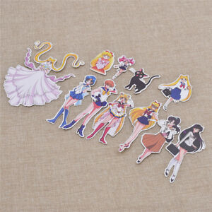 Sailor-Moon-Sticker-Luna-Tagebuch-Notizbuch-zufaellig-Aufkleber-Maedchen-Geschenk