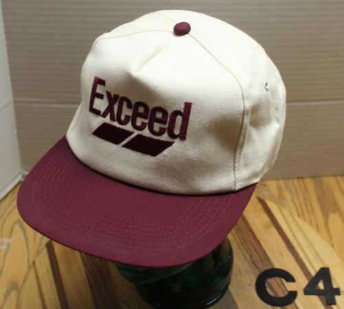 NWOT VINTAGE EXCEED CIBA FARMING RANCHING AGRICULTURE HAT WHITE//BURGUNDY C4