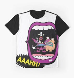 92fe06d31 Real Monsters Halloween 90's Retro Nostalgia Scary Show Graphic Tee ...