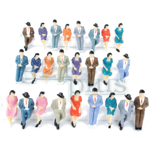 25 pcs Sitting Model Figures 1:32 Architectural Modeling Supply Male Female
