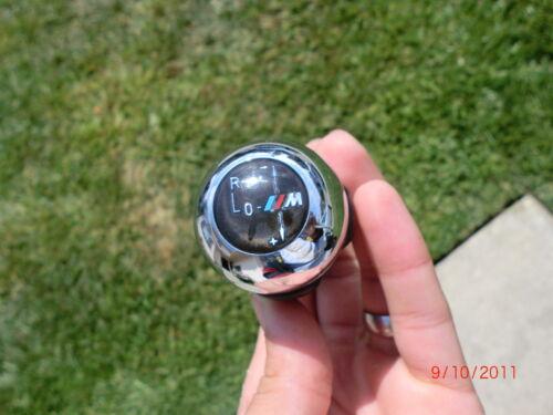 BMW E46 M3 OEM ORIGINAL SMG SHIFTER SHIFT KNOB CHROME LEATHER L@@K 2002-2006