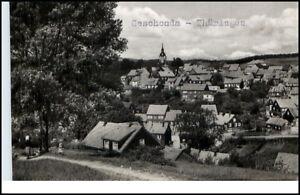 Geschwenda-Thueringen-DDR-Postkarte-1961-Gesamtansicht-Totale-mit-Kirche-gelaufen