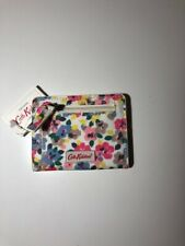 Cream BNWT Cath Kidston Painted Pansies Mini Continental Zip Wallet