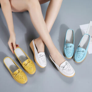 Women-Ladies-Mules-Ballerina-Slip-On-Pumps-Loafers-Low-Flats-Casual-Shoes-Size-5