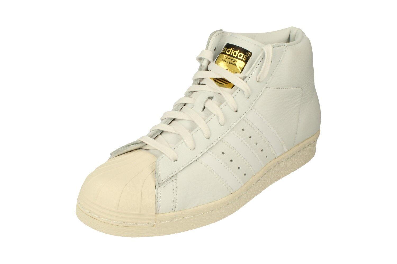 Adidas Originals Pro Model Vintage Dlx Mens Hi Top Trainers Sneakers S75031