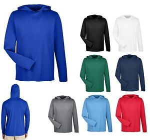 447ccb220dd Details about MEN'S PERFORMANCE, LONG SLEEVE, HOODED T-SHIRT, HOODIE  UNLINED UV WICKING XS-4XL