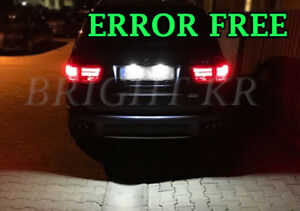 BMW-X5-E53-E70-PURE-WHITE-Number-Plate-LED-Light-Bulbs-CANBUS-ERROR-FREE