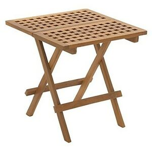 Cosco Folding Tables Uma Enterprises Teak Wood Folding Side Table With Grate Top - 20 In ...