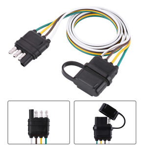 Tremendous 6V 12V 24V 4 Pin Flat Trailer Plug Car Caravan Rv Socket Wire Wiring Cloud Hisonuggs Outletorg
