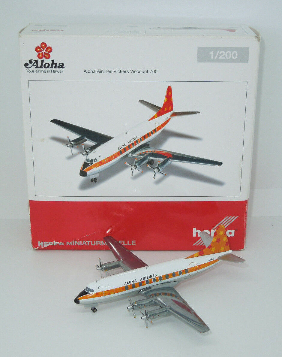 Herpa 1 200 - 555753-Vickers Viscount 700-Aloha Airlines