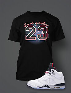 Do-the-Right-Thing-Graphic-Tee-shirt-To-match-AIR-JORDAN-5-WHITE-CEMENT-Shoe