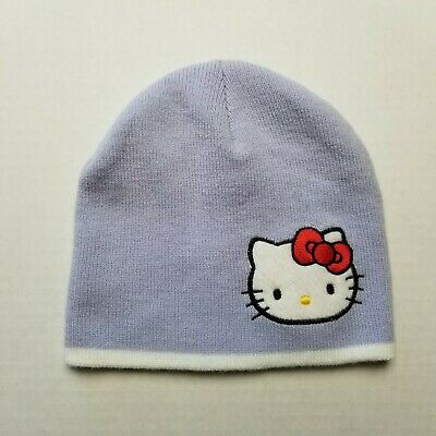 Girl/'s Hello Kitty Knit Beanie Hat Cap One Size Fits Most Pink Striped Sanrio