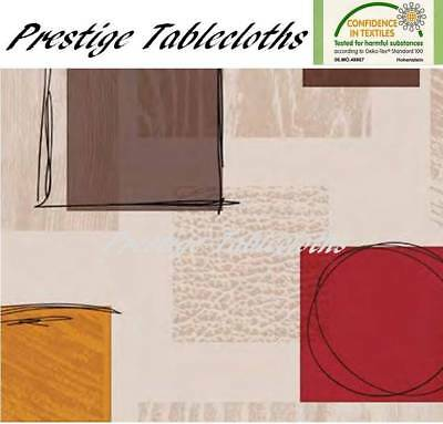 Code F849-1 Modern PVC Wipe Clean Vinyl Tablecloth ALL SIZES