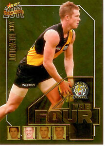 2011-Select-AFL-Champions-Fab-Four-Gold-Card-FFG50-Jack-Riewoldt-Richmond