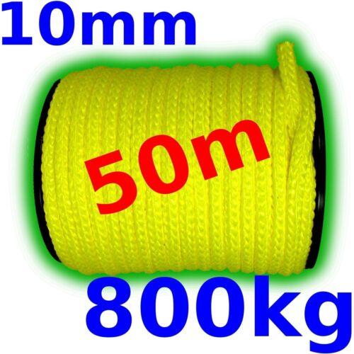 50m Kunststoffseil 10mm 800kg gelb gut sichtbar schwimmfähig PP-Seil Seil neu
