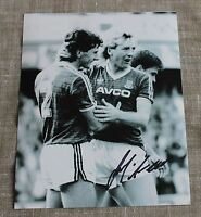 "FRANK McAVENNIE West Ham United HAND SIGNED Autograph 10"" X 8"" Photo + COA"