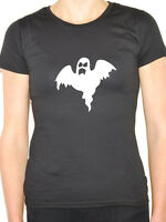 GHOST SILHOUETTE - Halloween / Novelty / Humorous Themed Womens T-Shirt