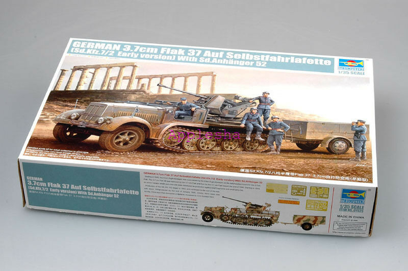 Trumpeter 1 35 01525 3.7cm Flak 37 Sd.Kfz.7 2 Early