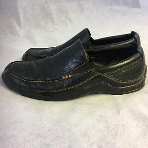 COLE-HAAN-Leather-Slip-On-Tucker-Venetian-Driving-Moccasin-Loafer-Shoes-Men-039-s-9M
