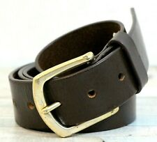 Leather Belt West End Buckle 30mm Choice of Colours Keeper Handmade 100/% Leather