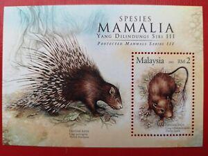 2005 Malaysia Miniature Sheet - Protected Mammals Series 3